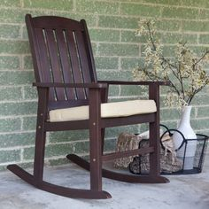 Patio Rocking Chairs - Pin it :-) Follow us, CLICK IMAGE TWICE for Pricing and Info . SEE A LARGER SELECTION of patio rocking chairs at http://zpatiofurniture.com/category/patio-furniture-categories/patio-chair/patio-rocking-chairs/ - home, patio, furniture, outdoor furniture, gift ideas , housewarming gift ideas - Coral Coast Cabos Collection Rocking Chair with Cushion « zPatioFurniture.com