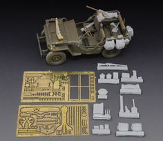 Maquettes - Jeep Willys Resin and metal photo-etched kit - Royal Model 605