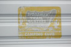 Faded original decal from the Woodmen Trailblazers camping club