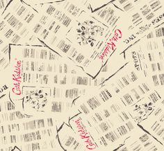 Newsprint | Inspired by Cath's years spent rummaging at car boots and antique markets, where her purchases were wrapped in old newspaper | Cath Kidston AW14 |