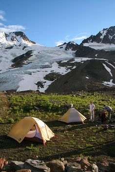 Camping in Alaska near Glacier, snuggling close to stay warm.  #scentsyhoneymoon
