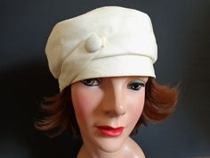 Silk Faille Cloche Hat Vintage 1960's White Tam Beret Accessory  $24.  Offers accepted, mail to: vanityflairvintage@gmail.com   http://www.rubylane.com/item/676693-AC95/Silk-Faille-Cloche-Hat-Vintage