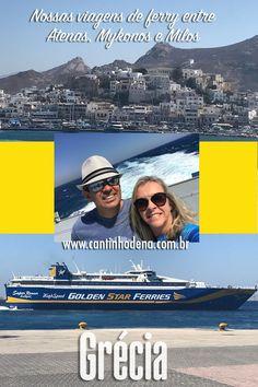 Ferry na Grécia: mini guia para sua viagem. Todos os detalhes, desde a compra das passagens, escolha do barco, embarque, bagagens e dica do ferry para NÃO escolher. #dicasdeviagem #grecia #cantinhodena #ferry