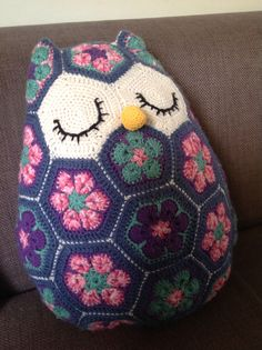 Meet Maggie the owl. Original pattern by Heidi Bears which you can find in Ravelry