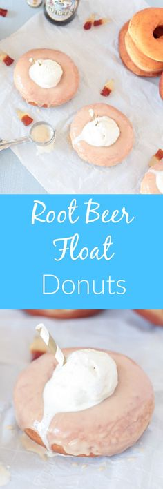 You won't mind getting a little messy for these Root Beer Float Donuts! They're a playful take on two classic American treats- homemade donuts with a root beer glaze topped with a scoop of vanilla ice cream!