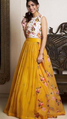 Lehenga - Georgette Inner - Santoon Length - 43 - 45 Work - Digital print Max size - 44 Blouse - Banglori Satin Work - Print Dupatta - Georgette Price - *Cash on delivery available . To enquire DM or WhatsApp on 8104846414 . Party Wear Indian Dresses, Designer Party Wear Dresses, Indian Fashion Dresses, Indian Gowns Dresses, Party Wear Lehenga, Kurti Designs Party Wear, Dress Indian Style, Indian Designer Outfits, Half Saree Designs