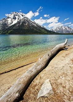 Leigh Lake....GRAND TETON NATIONAL PARK....a 310,043 acre park located in  Wyoming's northwest region....established in 1929....inhabited by humans for at least 11,000 years....the only national park in the United States with a commercial airport...includes Jackson Hole (a 55-mile-long valley), the Teton Mountain Range, and Jackson Lake
