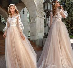 Discount 2020 Romantic Champagne Lace Flowers Wedding Dresses With Poet Illusion Long Sleeves Applique Wedding Dress Bridal Gowns Vestidos De Novia Wedding Dresses China Wedding Dresses Online Shop From Stunningdress88, $89.7| DHgate.Com Wedding Dresses With Flowers, Lace Flowers, Bridal Dresses, Wedding Gowns, Prom Dresses, Formal Dresses, Applique Wedding Dress, Nude Color, Chic Wedding