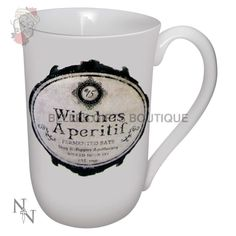 Witches Aperitif Big Cup Kaffeebecher im Alchemy Look Alchemy, Cool Vintage, Potion Bottle, China Mugs, Unusual Gifts, Brewing Co, Label Design, Mug Cup, Wicked
