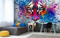 90 cool teenage room ideas for inspiration Room Ideas Bedroom, Bedroom Sets, Girls Bedroom, Youth Rooms, Big Living Rooms, Teenage Room, Wall Decor, Room Decor, Colorful Pillows