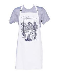 Kitchen Apron - BBQ Apron - Cooks Apron - Long Apron - Kitchen Gifts - Cooking Gift Ideas - Birthday Gift Ideas - Trees Camping Apron Kitchen Aprons, Kitchen Gifts, Tree Camping, Bbq Apron, Gifts For Cooks, Hand Designs, How To Draw Hands, Trees, Gift Ideas
