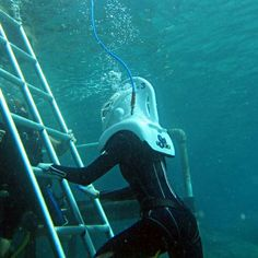 Scuba Diver Girls trying Sea Trek off USVI with @Swishsuits
