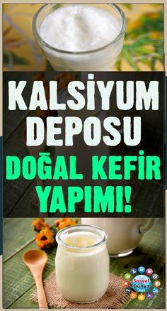Kalsiyum deposu doğal kefir yapımı! Kefir, Bone Health, Natural Medicine, Natural Remedies, Vitamins, Food And Drink, Healing, Diet, Drinks