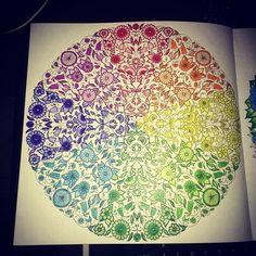 7 Ideas De Mis Láminas Coloreadas El Jardín Secreto Jardín Secreto Libros De Arte Arte Terapia