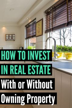 11 Ways to Invest in Real Estate (With or Without Buying Property) - Real Estate Investing Rental Property, Investment Property, Investment Tips, Investing Money, Saving Money, Stock Investing, Saving Tips, Make Money From Home, How To Make Money