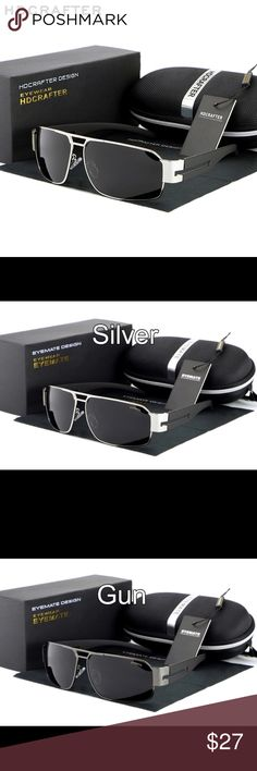 🆕Fashion Polarized Men Sunglasses UV400 Beautiful glasses rectangular shape 5th and 6th picture are what you will be receiving. Frames come in silver, gunmetal, and black choose your color when purchasing. These glasses qualify for free shipping simply make an offer for $20 and I will accept. Thank you for visiting my boutique. HD Crafter Accessories Sunglasses