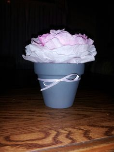 maybe a pot for the centerpiece to go with the flower seeds if we choose to do that terry casola bridal shower centerpieces