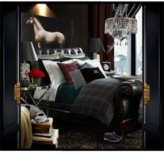ralph lauren bedroom design ideas best interiors images on master bedroom in spanish Masculine Room, Masculine Interior, Home Interior, Interior Design, Interior Decorating, Equestrian Decor, Equestrian Style, My New Room, Beautiful Bedrooms