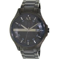 Relógio Armani Exchange Men s AX2104 Black Stainless-Steel Quartz Watch  with Black Dial  Relogios b7114d8039