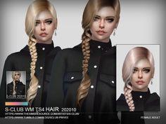 The Sims, Sims Cc, Pelo Sims, Club Hairstyles, Female Hairstyles, Sims 4 Collections, Hair Clasp, Sims 4 Cc Packs, Sims Hair