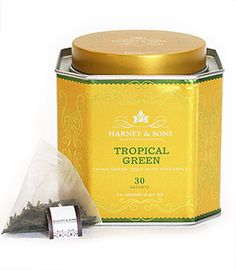 Harney & Sons: Tropical Green  Wonderful fruit flavor. Available at the Starbucks inside Barnes & Noble.