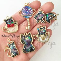 Likes, 98 Comments - Lianne H. Clay Creations ( on Insta. Kawaii Jewelry, Kawaii Accessories, Cute Jewelry, Jewelry Accessories, Jewelry Design, Resin Jewelry, Jewelry Crafts, Handmade Jewelry, Uv Resin