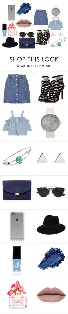"""Untitled #4"" by mirela-r13 on Polyvore featuring Topshop, Steve J & Yoni P, Disney, Jennifer Meyer Jewelry, Mansur Gavriel, Christian Dior, Incase, Maison Michel, JINsoon and Marc Jacobs"