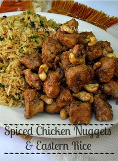 Juicy Chicken Nuggets with a delicious Rice
