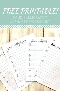 Faux Calligraphy- 3 Simple Steps to Beautiful Script Lettering - Scribbling Grace Faux Calligraphy Free Printable