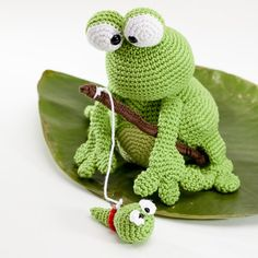 Kobe And Kenji Frog Amigurumi Pattern