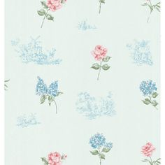 @Overstock.com.com - Brewster Home Fashions Light Blue Floral Toile Wallpaper - A traditional style, this Brewster Home Fashions wallpaper adds floral spunk to your walls. Green petals with delicate blue and pink flowers supplement a traditional country scene in this soft toile.  http://www.overstock.com/Home-Garden/Brewster-Home-Fashions-Light-Blue-Floral-Toile-Wallpaper/8117448/product.html?CID=214117 $22.99