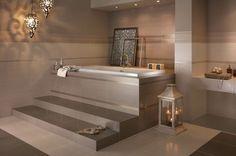 Créer un intérieur zen avec la salle de bain beige! Beaucoup d'idées en 44 photos! Modern Bathroom, Small Bathroom, Big Baths, Bathroom Renovations, Corner Bathtub, Loft, House Design, Leroy Merlin, Storage