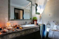Bungalows in Malia, Heraklion Crete - bungalows crete Heraklion, Crete, Double Vanity, Bungalow, Mirror, Bathroom, Furniture, Home Decor, Washroom