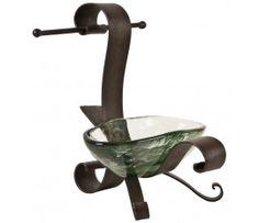 Forged Iron Soap Dish w/ Towel Holder - Side