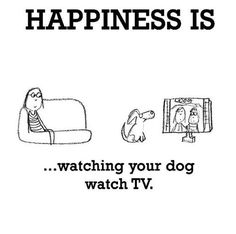 Happiness #93: Happiness is watching your dog watch TV.