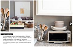 Styling a Small Kitchen: details