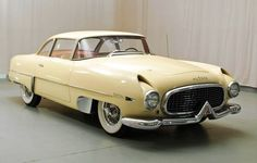 1955 Hudson Italia. Based on a Hudson Jet chassis and fitted with a Superleggera body designed and built by Touring of Italy. Chassis number 3 is the 4th car built if one includes the prototype of 26 Hudson Italia coupes that were built.
