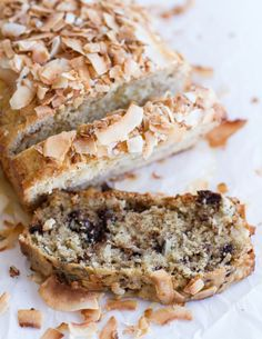 Toasted Coconut Lemon Bread with Salted Honey Butter. - Half Baked Harvest.