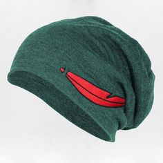 Neverland Beanie Whosits Whatsits ($22) ❤ liked on Polyvore featuring accessories, hats, peter pan, beanie, disney, neverland, green hat, green beanie, beanie hats e green beanie hat