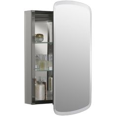 Kohler Aluminum Single-Door Medicine Cabinet with Mirrored Door $286.11