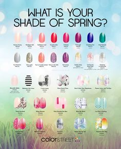The new color street spring catalog has been revealed!!  32 New shades.