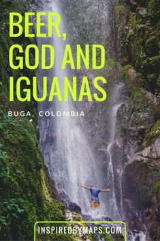 Things to Do in Buga Colombia - Beer, God and Iguanas! Buga formally Guadalajara de Buga is y in the Valle del Cauca department of Colombia [South America]. It is famous for Holy Water Cafe And Holy Water Ale Brewery, Basilica del Señor de los Milagros, Buga Hostel, Waterfalls. Add to your Colombia Bucket List and things to do and see in colombia ☆☆ Travel Guide / Ideas by #Inspiredbymaps ☆☆