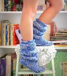 Free+Crochet+Boots+Pattern+Women | Free Women Slipper Crochet Patterns | Cozy Slippers Crochet Boots ...