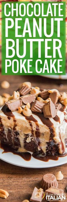 Everyone loves delicious desserts and sweets! Find easy dessert recipes for every occasion. Tolle Desserts, Köstliche Desserts, Delicious Desserts, Dessert Recipes, Yummy Recipes, Peanut Butter Sheet Cake, Peanut Cake, Poke Cake Recipes Chocolate, Chocolate Peanut Butter