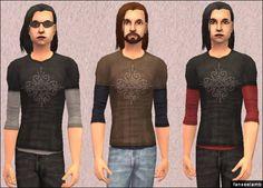 Mod The Sims - Heartagram Layered Tees