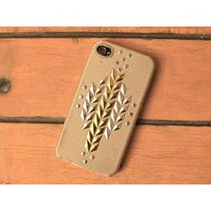 Eco iPhone Fabric Cover Snap On Case With Studded Lady by frabhaus