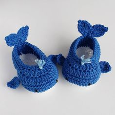 Crochet Whale Booties Pattern By Stacey Lynn - Page 2 of 31 - Free Crochet Patterns Crochet Baby Sandals, Booties Crochet, Crochet Baby Clothes, Crochet Shoes, Crochet Slippers, Baby Booties, Crochet For Boys, Cute Crochet, Crochet Crafts