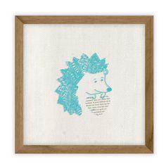 Umbra Fable Hedgehog by Erika Kovesdi Framed Graphic Art