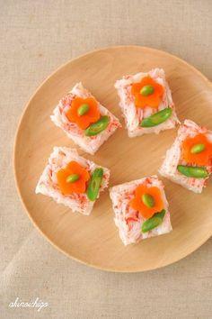 押し寿司のデザインアイデア♪女の子が喜ぶお花の押し寿司♡♡ひな祭りにもぴったり