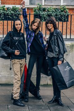 January 9, 2016 Tags Stripes, Plaid, Mica Arganaraz, London, Binx Walton, Boots, Women, Model Off Duty, Models, Leather Jackets, Sneakers, Backpacks, Lexi Boling, Sweatshirts, Khakis, FW16 Men's, Hoodies, 3 People